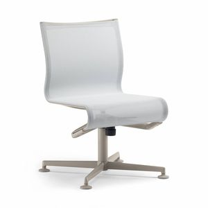 Polster-Konferenzstuhl / drehbar / schrägstellbar / sternförmiger Fuß