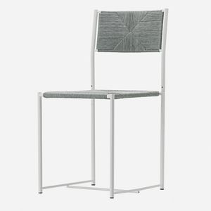 moderner Stuhl / mit Armlehnen / Stapel / Kufen