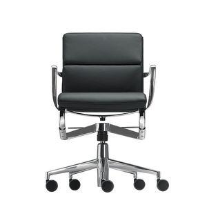 moderner Bürostuhl / mit Rollen / mit Armlehnen / drehbar