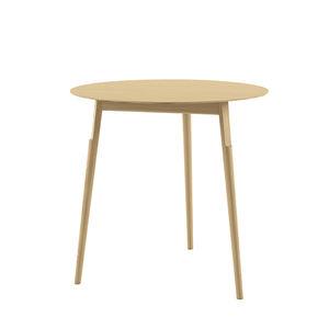 moderner Tisch / aus Eiche / Massivholz / lackiertes Holz