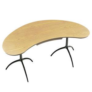 Multimedia-Schreibtisch / aus Esche / Aluminium / modern