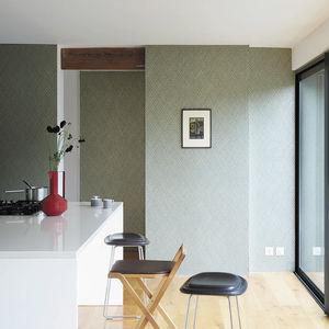 moderne Tapete / mit geometrischem Muster / Metallefekt / Farb