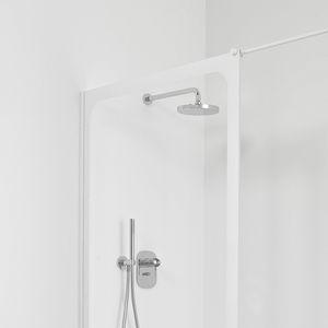 Schiebeduschwand / für Eckeinbau / Glas / für Privatgebrauch