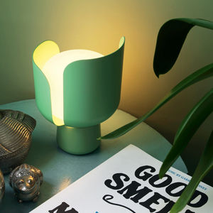 Tischlampe / originelles Design / gestrichenes Aluminium / Polycarbonat