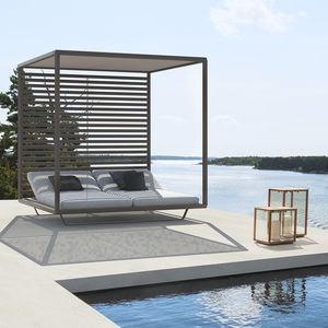 Garten-Bett / Himmel / Doppelbett / modern / schrägstellbar