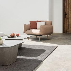moderner Couchtisch / Beton / quadratisch / Außenbereich