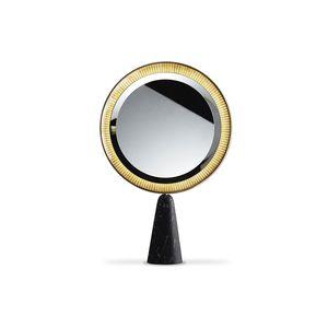 Stell--Spiegel / LED beleuchtet / modern / rund