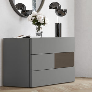 moderne Kommode / lackiertes Holz / für Hotelzimmer / Contract