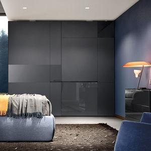 Modul-Kleiderschrank / modern / Glas / Schiebetüren