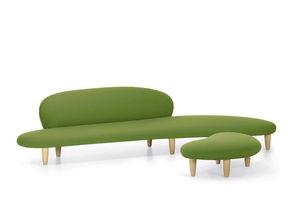 modernes Sofa / aus Nussbaum / aus Ahorn / Stoff