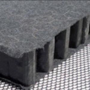 Regenwasserrückhaltungsmatte für Flachdächer / Polypropylen