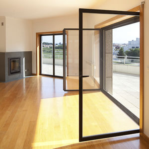 einflügelige Fenstertür / Aluminium / PVC