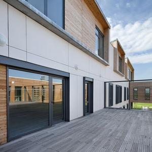 einflügelige Fenstertür / Aluminium / Doppelverglasung / wärmeisoliert