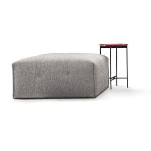 moderner Sitzpuff / Stoff / rechteckig / Objektmöbel