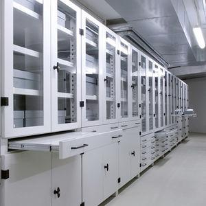 Regalsystem für Museen / Standard / Modulare / Schubladen