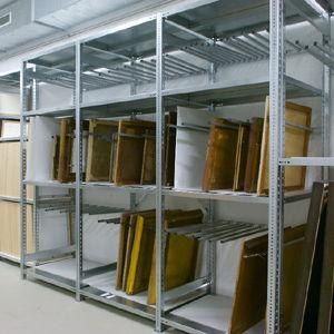 Regalsystem für Lagerung / für Museen / Standard / Metall