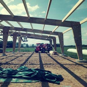 Fertigbau-Träger / Furnierschichtholz / rechteckig / für Böden
