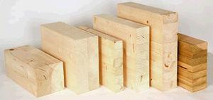Fertigbau-Träger / Brettschichtholz / Lamellenholz / Rechteck