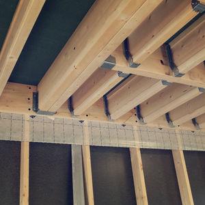 Hohlkörper-Zwischendecke / Fertigbau / Holz