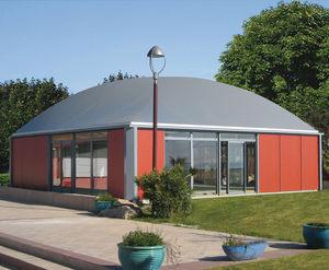 Kiosk für gewerbliche Nutzung / Außenbereich / Aluminium / anodisiertes Aluminium