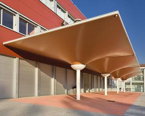Metallrahmen-Flächentragwerk / Membrankabel / Vordach / für Dächer