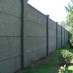 Fertigbau-Lärmschutzwand / Beton / Stahl / für Straßen