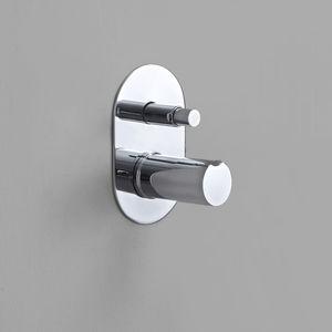 Einhebelmischer für Duschen / für Badewanne / wandmontiert / aus verchromtem Messing