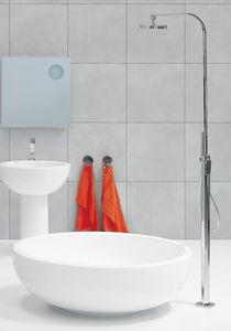 Einhebelmischer für Badewanne / bodenstehend / Messing / Badezimmer