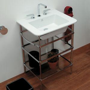 Waschbecken-Unterbau / aus Chrom