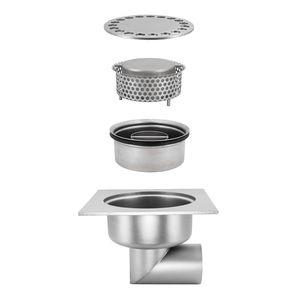 Edelstahl-Bodenablauf / für Küchen / für Industrieanwendung / Gitter