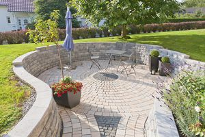 Stein-Stützmauer / Modulare / für Gartenzäune