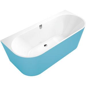 freistehende Badewanne / oval / Verbundwerkstoff / Massage
