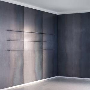 Stahl-Metallplatte / wandmontiert / Objektmöbel