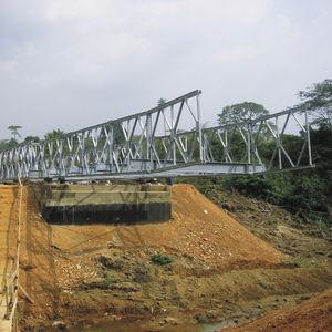 Fachwerk Brücke / verzinkter Stahl / Fertig / modular