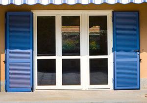 einflügelige fensterläden / Stahl / für Fenster / Akustik