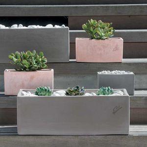 Terrakottapflanzkübel / rechteckig / modern