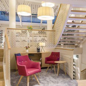 Platten-Geländer / Innenraum / für Treppen / für Hängeboden
