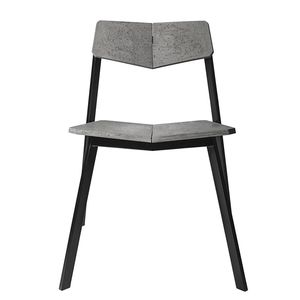 moderner Besucherstuhl / Stapel / Beton / grau