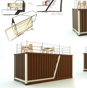 Containeranlage für gewerbliche Nutzung / für Restaurants