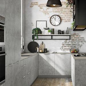Zement-Küche / U-Rohr / mit Griffen