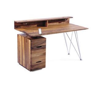 Schreibtisch aus Eiche / aus Nussbaum / aus Esche / aus Kirschbaum