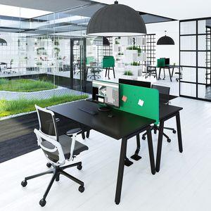Schreibtisch für Open Space / Melamin / modern / Objektmöbel