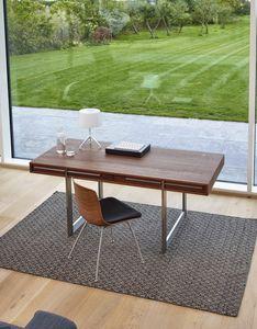 Schreibtisch aus Eiche / aus Nussbaum / aus Esche / Ulme