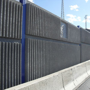 Lärmschutzwand / modularen Platten / Fertigbau / Stahlbeton / Verkehrs