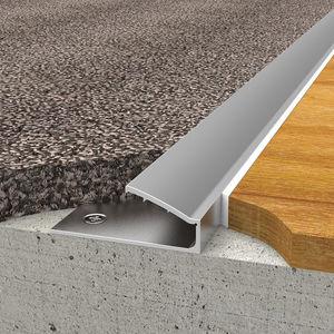 Aluminium-Übergangsprofil / für Teppichböden / rutschfest