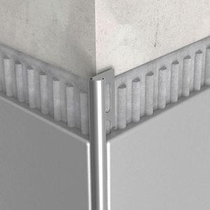 Edelstahl-Abschlussprofil / für Fliesen / für Außeneckprofil / für Kunst Inneneckprofil
