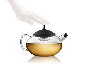 Edelstahl-Teekanne / Silikon / aus Borosilikatglas / Privatgebrauch