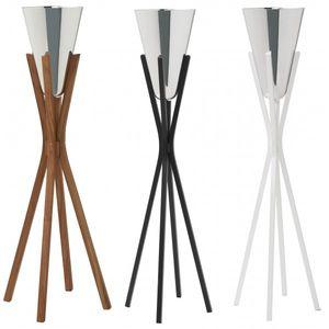 Zinn-Sektkübel / Aluminium / Massivholz / Objektmöbel