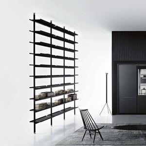 Decke/Boden-Regal / modern / Aluminium / Laminat