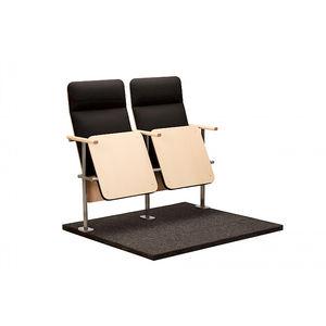 moderner Hörsaalstuhl / Klapp / Polster / mit Schreibplatte